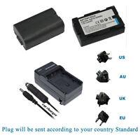 2x 1.1Ah 7.2V battery w/ Charger for PANASONIC CGR-D08, CGR-D08A/1B, CGR-D08R