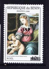 More details for benin 2000 michel 1241 1996 40fr virgin & child surcharged 135f u/m cat 200 euro