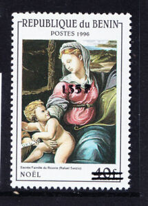 BENIN 2000 Michel 1241 1996 40fr Virgin & Child surcharged 135f u/m cat 200 euro