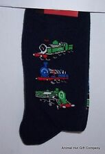 Trains on Navy Mens/Womens Socks