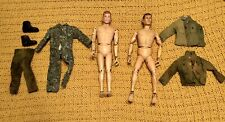 2 vintage 1964 gi joe hasbro action Man Figures With Accessories