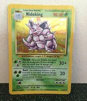 Nidoking 11/102 Base Set Rare Pokemon Card Used Condition