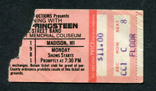 1981 Bruce Springsteen Concert Ticket Stub-The River Tour Madison Wisconsin