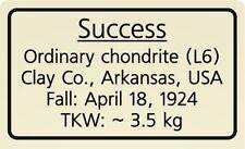 Meteorite label Success
