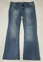 Aeropostale Hailey Womens Jeans Distressed Skinny Flare Size 13/14 Short