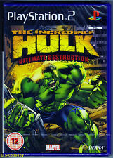 PS2 The Incredible Hulk Ultimate Destruction (2005), New & Sony Factory Sealed