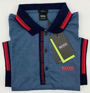Hugo Boss Polo Men Cotton stretch Fabric  Regular fit color Dark Teal