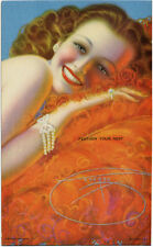 Vintage FEATHER YOUR NEST Billy Devorss CHEESECAKE PIN-UP Mutoscope Card