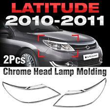 Chrome Head Lamp Garnish Molding Trim B702 For RENAULT 2010-2011 Latitude / SM5