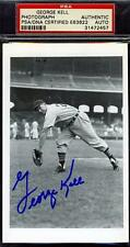 George Kell Signed Psa/dna Tigers Photo Certified Autograph