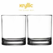 Acrylic Highball Drinking Glasses Cups Bpa Free Plastic Tumblers 14 Oz Set Of 2