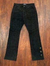 Polo Ralph Lauren Black Bicker suede genuine Leather jean Pants 35/34