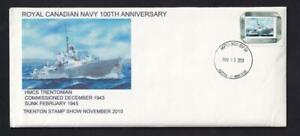 Canada 2010 Royal Canadian Navy 100th Anniv, private special event w/inserts