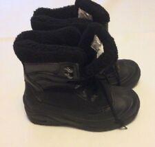 ITASCA WOMEN'S SLEIGH BELL WINTER BOOTS Black W/Gray Sz 9M