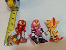 Nice Lot of 3 Sonic the Hedgehog Figures Super Shadow Knuckles & Espio Jazwears