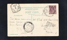 Straits Settlements postcard Penang 1907 to Tangerang ; Agent Singapore Weitevre