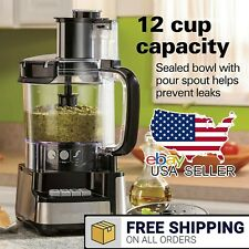 12 Cup Stack and Snap Food Processor Vegetable Chopper Grater Kitchen Cooking