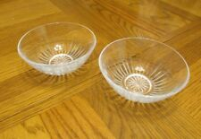 princess house highlights in lead crystal bowls model 862 set of 2 new in box