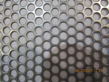 "1/4"" HOLES 16 GAUGE 304 STAINLESS STEEL PERFORATED SHEET-- 11"" X 11"""