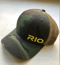 Rio Products Fly Fishing Hat Adjustable Snapback Trucker Camo Camouflage OSFA