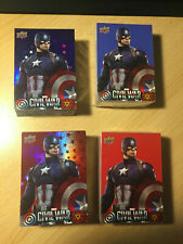 2016 Marvel Captain America Civil War; 200 Card Master Set Red & Blue Foil +Base