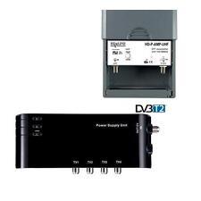 TV Vorverstärker 4 TV Geräte + Versorgung für Terrestrische Antenne DVB-T