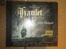 "78RPM 12"" Decca (2 Record Set) c1948 John Gielgud reading Hamlet high grade E"