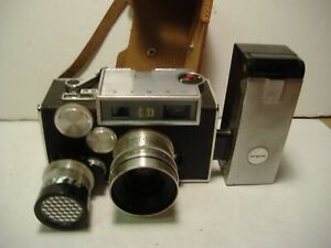 Argus C 33 camera  with test light & leather case