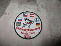 """Kölner Haie """"KEC"""" Eishockey Aufnäher """"Eishockey Europacup Finale 1995 Köln"""""""