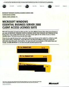 Microsoft Windows Essential Business Server 2008 75 CAL