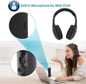 Pyle PHPW5 Professional 5-in-1 Wireless Headphone System with Microphone ~NEW~