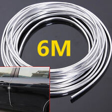 6M 20ft Chrom Moulding Trim Strip Car Door Edge Scratch Guard Protect Strip Roll