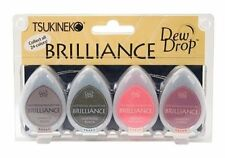Tsukineko Brilliance Dew Drop Inkpad of All Kinds 4-Pack Two-Tone BD100005 NEW