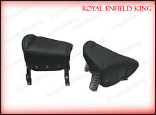 Black Standard Saddle Front & Rear Seats For Triumph Royal Enfield BSA Norton
