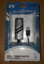 Adaptador USB 3.0 a RJ45 Gigabit Ethernet 10/100/1000 Mbps