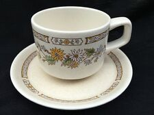 """Sandflowers"" Temperware By Lenox Coffee Cup And Saucer Set"