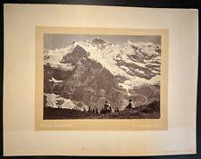 Florentin Charnaux Swiss Alps Jungfrau & Wengernalp Albumen Photograph 1870s