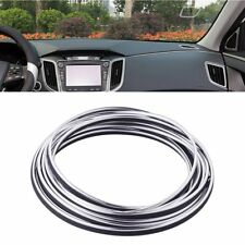 Silver 5M 16ft Car Door Panel Edge Gap Strip Moulding Trim Decoration Accessory