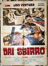 manifesto 2F film ADIEU, POULET Pierre Granier-Deferre Lino Ventura 1976
