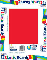 """Artskills Classic Poster Board, 11 x 14"""", 5/Pack, Assorted Colors (PA-1364)"""