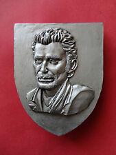 Blason buste de Johnny Hallyday avec accroche*