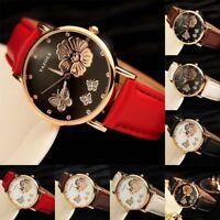 Cadran papillon femmes montre de causalité analogiques quartz montre-bracelet
