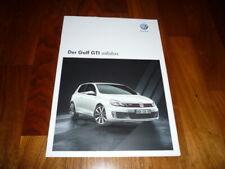VW Golf GTI ADIDAS Prospekt 10/2010