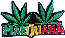 Marijuana Cannabis Weed leaf Embroidered Iron Sew On Patch Applique Badge Motif