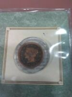 1847 United States Braided Hair Large Cent in Custom Holder with COA