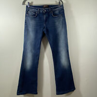 Roberto Cavalli Women's Boot Cut Denim Jeans Size 44 Made In Italy  US-8