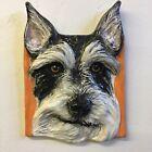 Schnauzer Dog Ceramic Tile Handmade 3d Pet Portrait Sondra Alexander Art