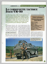 4X4 CAMIONNETTE pickup TACTIQUE IVECO VM-90 TORPEDO SAN MARCO ARMY ITALY FICHE