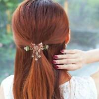 Colorful Women Enamel Crystal Butterfly Hair Clip Hairpin Bride Hair Accessory f
