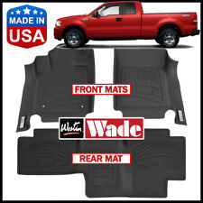 Westin Wade Sure-Fit Floor Mats fit 2004-2008 Ford F-150 SuperCab BLACK